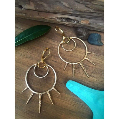 SPIKED SEA URCHIN EARRINGS