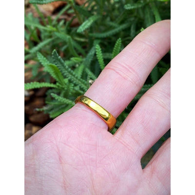 GOLD CZ OVAL RING