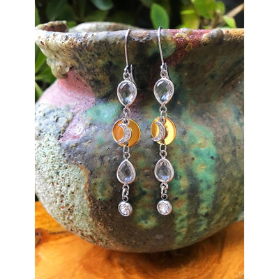 PAVÉ MOON TEARDROP EARRINGS