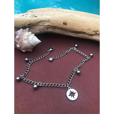 NORTH STAR CHARM ANKLET