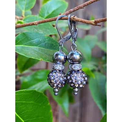 SILVER GLAM EARRINGS