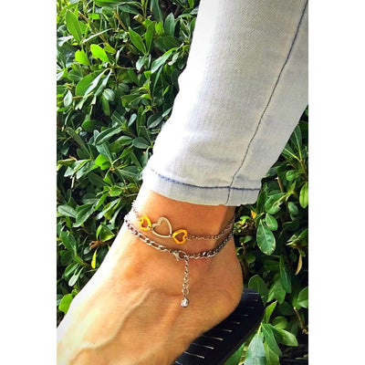 TRIPLE HEART ANKLET