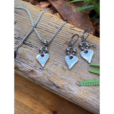 RUSTIC HEART EARRINGS