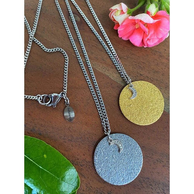 GLITZ MOON NECKLACE