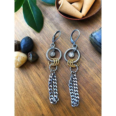 VORTEX CHAIN EARRINGS