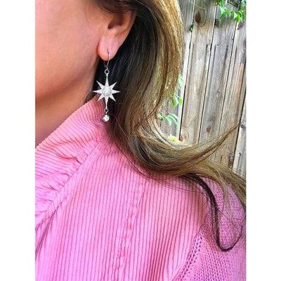 PAVÉ SUNBURST EARRINGS