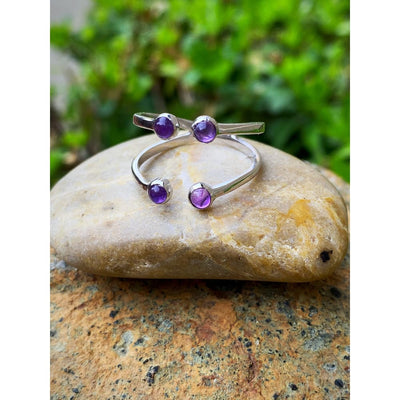 AMETHYST SPLIT RING