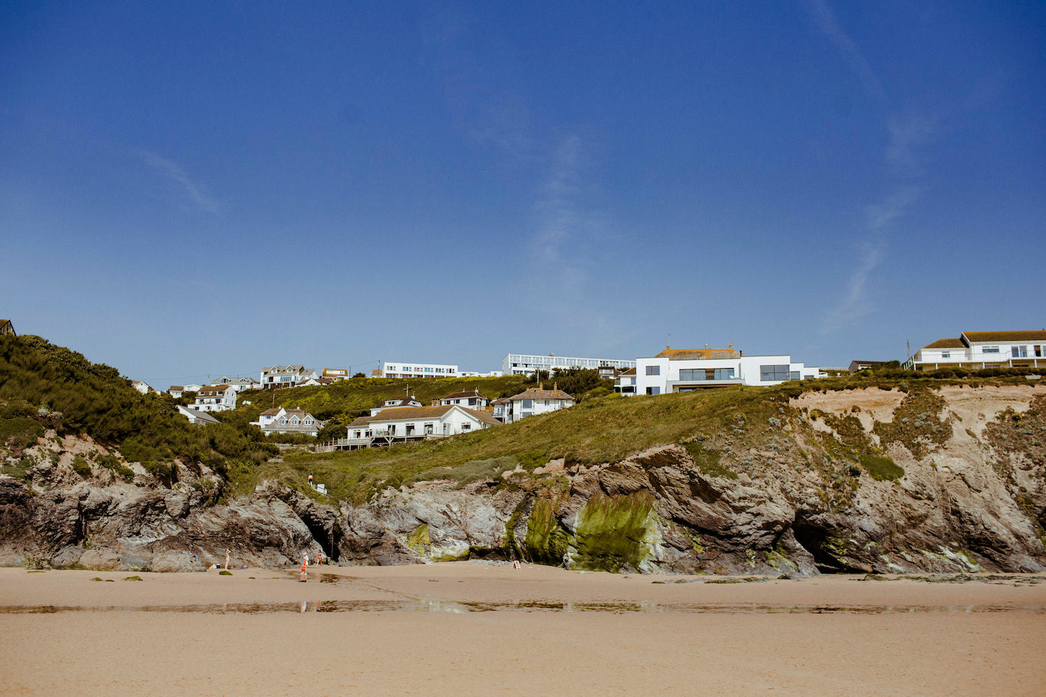 Bedruthan Hotel views from beach
