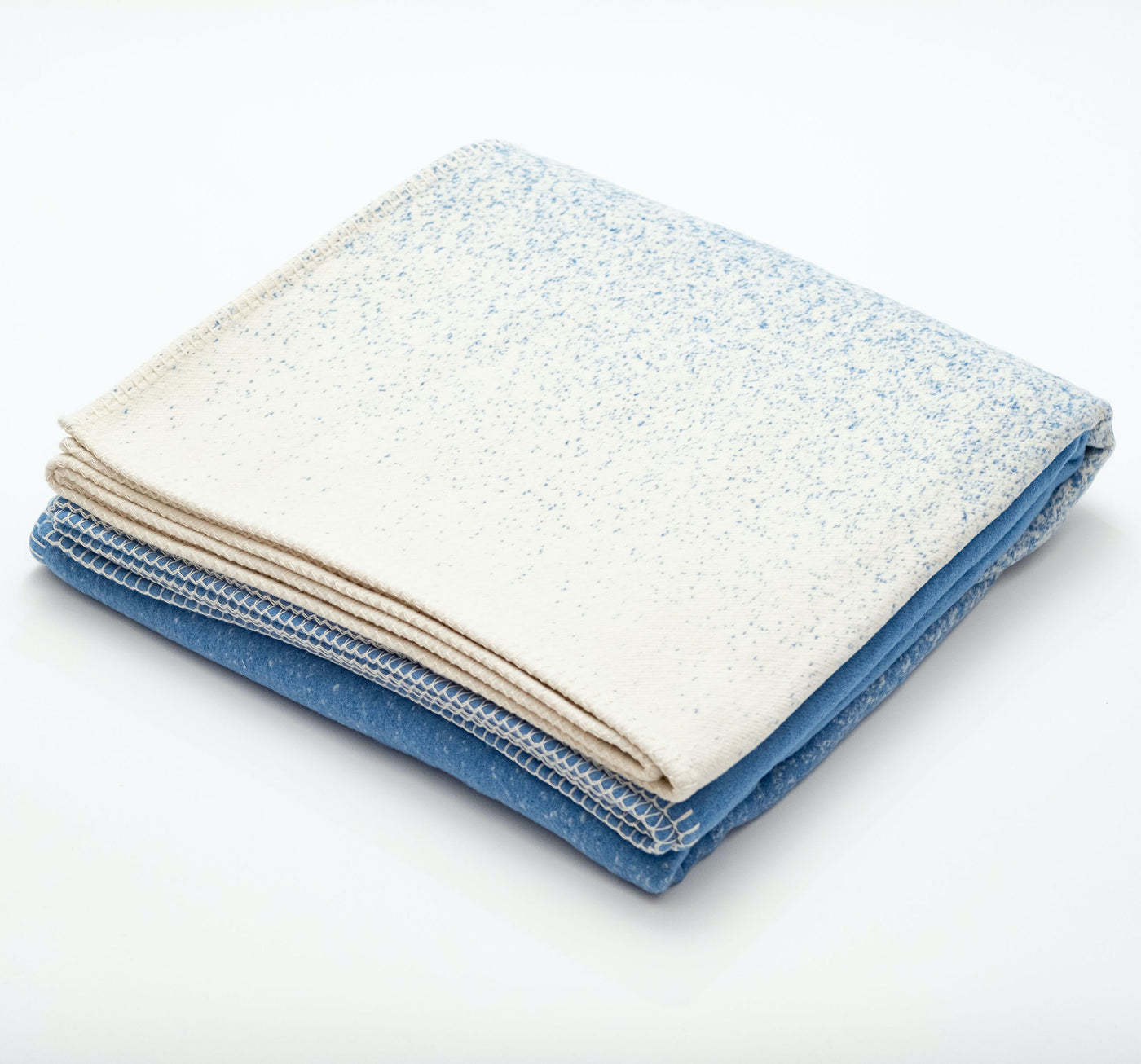 Blue Sea Spray Recycled Cotton Blanket