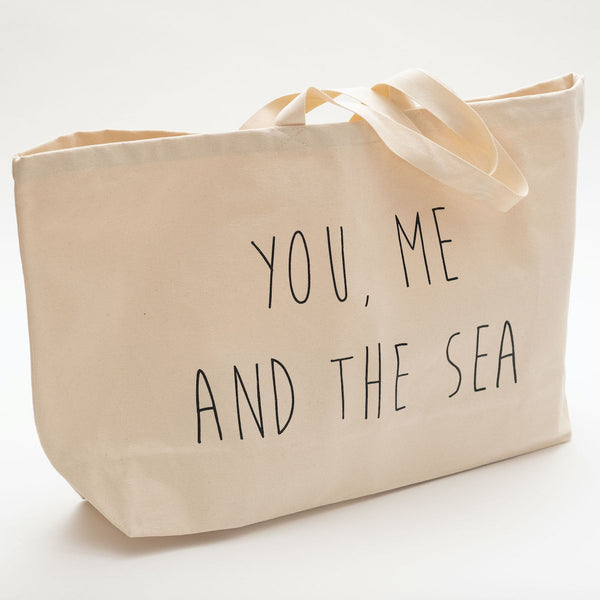 You, Me and the Sea Canvas Beach Bag/Shopper