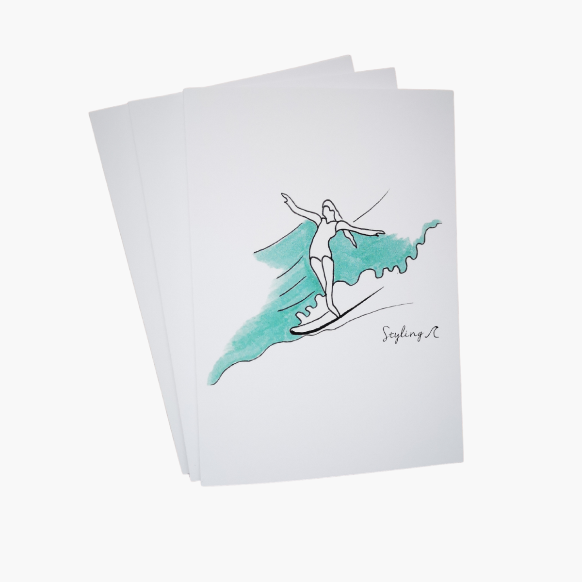 Wave Cruiser Greetings Card