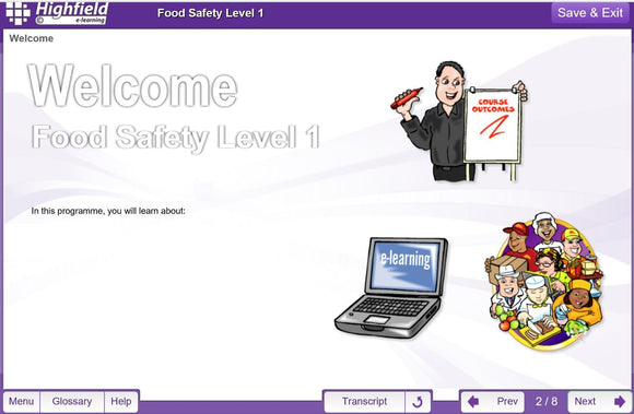 Food Safety Training Level 1 - Elite Personnel Training