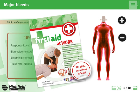 This innovative, multi-device e-learning First Aid Training course provides learners with the knowledge they need to go on to achieve a First Aid qualification in a fun and interactive way.