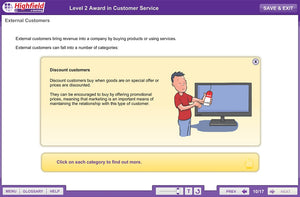 Fantastic offers on Highfield Training endorsed Online Health and Safety Training Courses from £15 This innovative, multi-device e-learning course provides learners with the knowledge they need to go on to achieve a level 2 Customer Service Online Training qualification in a fun and interactive way.