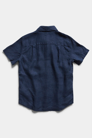 Boys Hampton Linen S/S Shirt