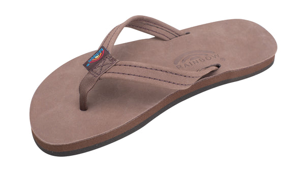 "Rainbow Sandals Kids Premier Leather 1/2"" Narrow Strap - Expresso"