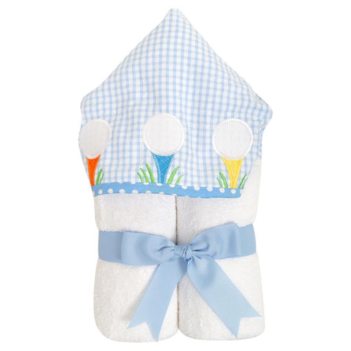 3 Marthas Everykid Hooded Towel Blue Golf