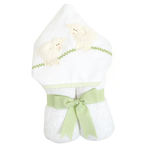 3 Marthas Everykid Hooded Towel White Lamb