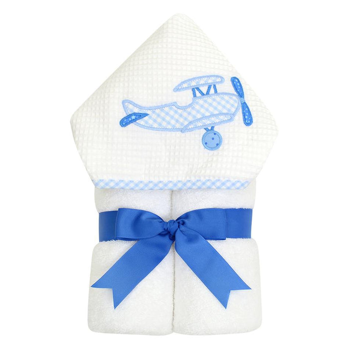 3 Marthas Everykid Hooded Towel Airplane