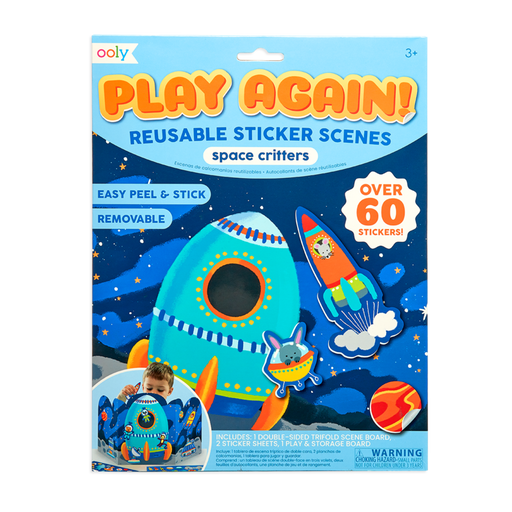 Ooly play again! reusable sticker scenes - space critters