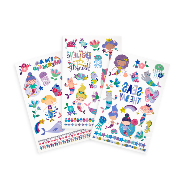 Ooly Tattoo-Palooza Temporary Tattoos - Mermaid Magic