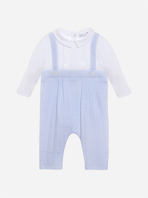 Baby Boy White and Blue Playsuit Knit 3133074
