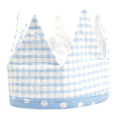 Birthday Crown Blue Gingham