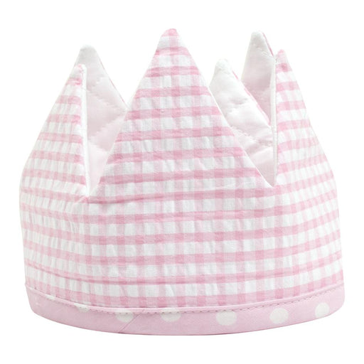 3 Marthas Birthday Crown Pink Gingham
