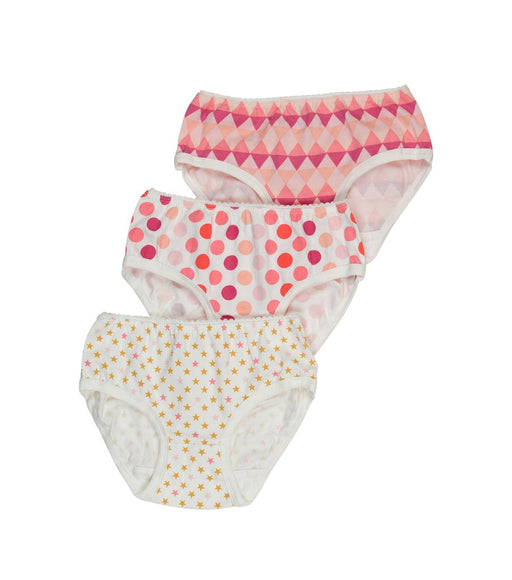 Toobydoo Girls Underwear 3pc Stars, Diamonds and Dots