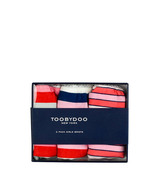 Toobydoo Girls Underwear 3pc Yay Stripes