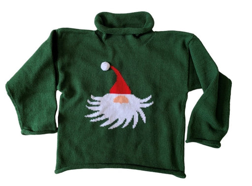 Gnome Sweater on Hunter Green