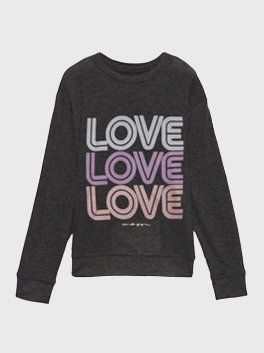 Spiritual Gangster Love Girls Crew Neck Savasana