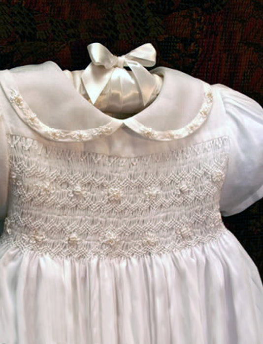 Linen Heirloom Christening Gown