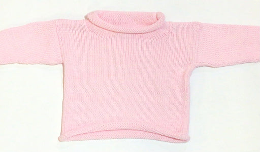 Roll Neck Pale Pink Sweater