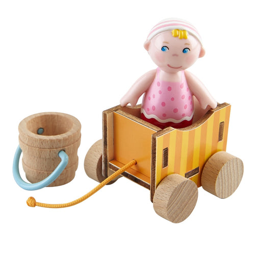 Haba Little Friends Baby Nora and Wagon