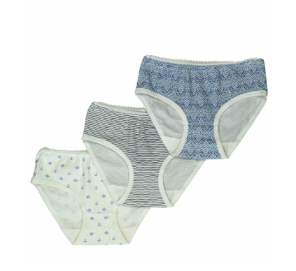 Toobydoo Girls Underwear 3pc (ready, set, sail)
