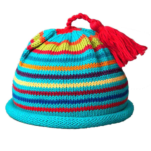 Bright Striped Tassel Hat