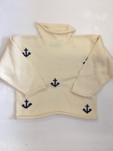 Anchors All Over Sweater