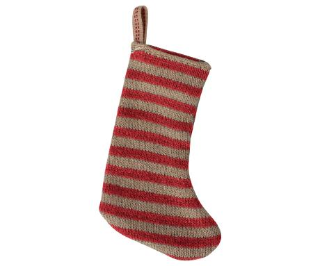 Maileg Christmas Stocking Red/Sand