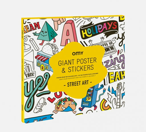 OMY Giant Poster and Stickers Street Art
