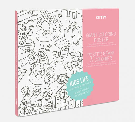 OMY Kids Life Giant Coloring Poster