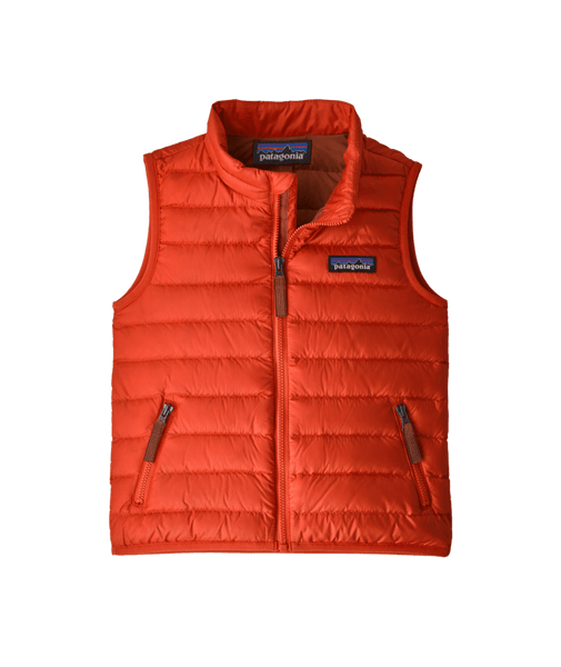 Patagonia Baby Down Sweater Vest Hot Ember