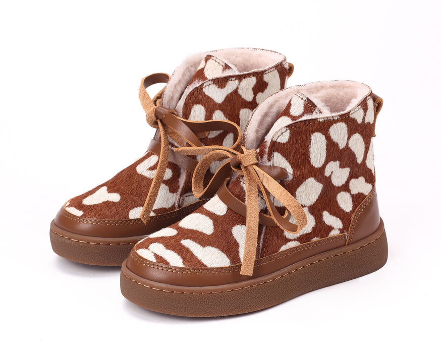 Donsje Archie Lining Brown Spotted Cow Shoe
