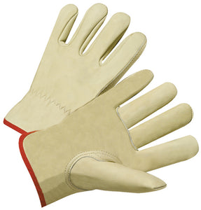 Anchor 4000 Series Cowhide Leather Drivers Gloves Tan (12 PAIR)