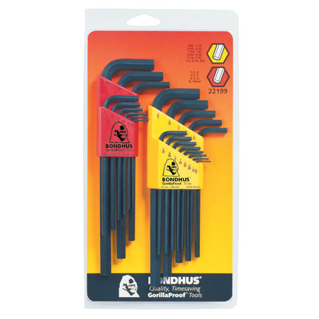 HEX L WRENCH COMBINATION 22 SET QUANTITY 2