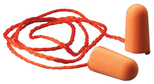 3M Foam Earplugs, Corded Tapered, Bright Orange, (100 PR/Box)