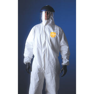 PROSHIELD NECGEN COVERALLS W/ ELASTIC WRIST & ANKLES AND ATTACHED HOOD & BOOTS