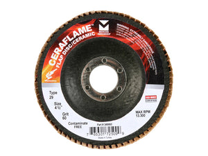 "4-1/2"" x 5/8""-11 Premium Ceramic Type 29 Flap Discs Pack of (10)"