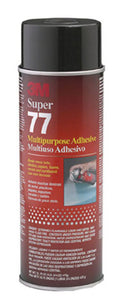 SUPER 77 MULTI-PURPOSE SPRAY ADHESIVE, CASE OF (12) 24 oz CANS #21210