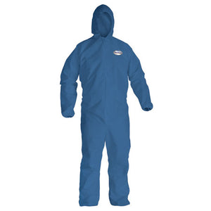 KLEENGUARD A20 BREATHABLE PARTICLE PROTECTION COVERALLS w/ ELASTIC BACK, WRIST & ANKLES; ZIPPER FRONT w/STORM FLAP